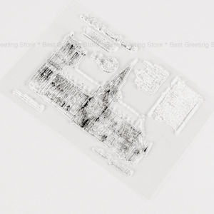 Франция Нотр-Дам де Пари марки прозрачный силиконовый фон марки Скрапбукинг бумаги крафт-марки