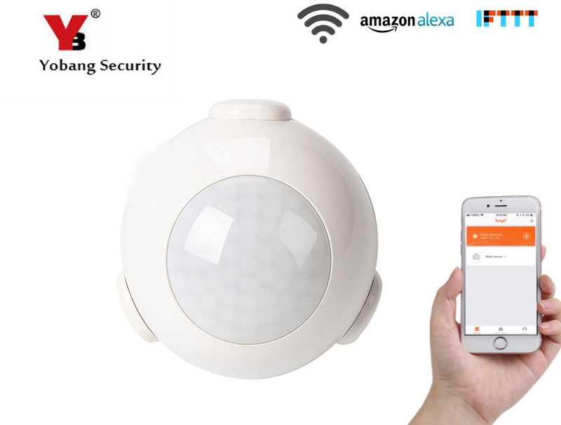 YobangSecurity 2pcs/lot APP Control Wifi Wireless Passive Infrared Motion Sensor Alarm PIR Motion Dectector For Home Automation yobangsecurity 433 mhz ev1527 wireless passive infrared sensor pir sensor motion detector for wireless wifi home alarm system