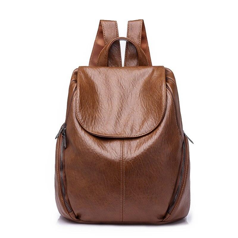 2018 Women Backpack Feminine Leisure Rucksack PU Leather Moc