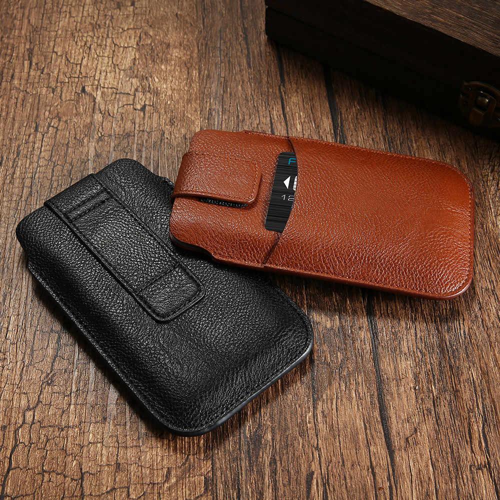 Kisscase Đa Năng Dành Cho iPhone 6 6 S 7 8 Plus X Retro Da Eo Phối Túi Hộp Điện Thoại Di Động dành Cho Samsung S8 Plus S7 S6 S5