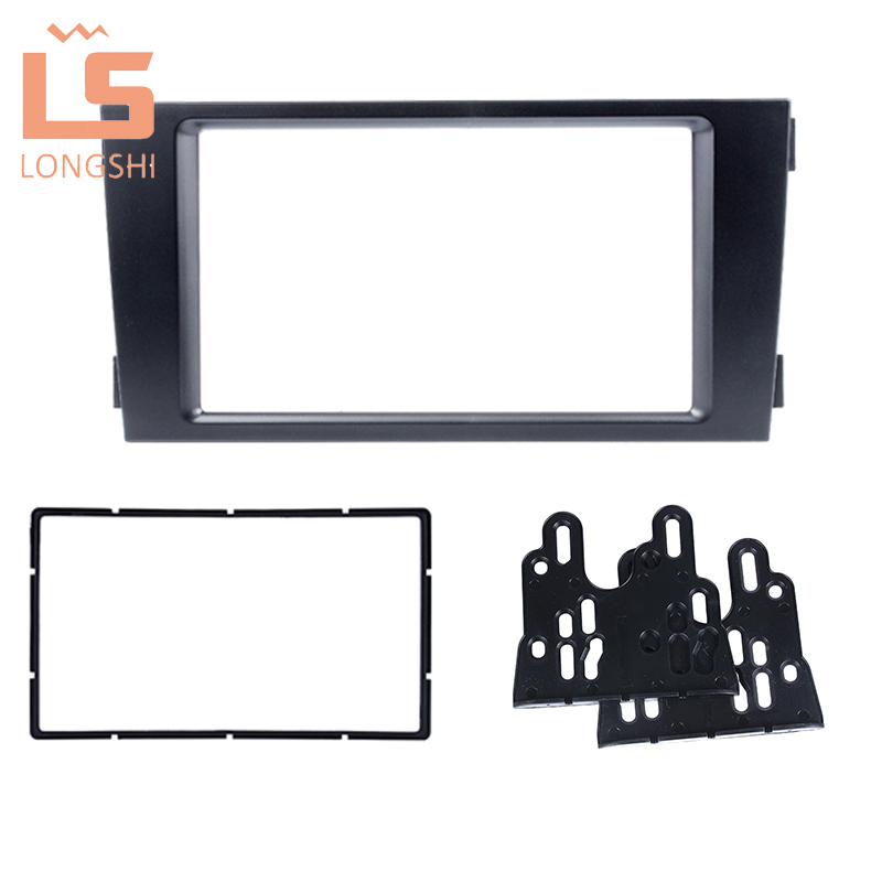 Free shipping Car refitting DVD frame DVD panel Dash Kit Fascia Radio Frame Audio frame for 02 06 Audi A6 4B allroad 2DIN in Fascias from Automobiles Motorcycles