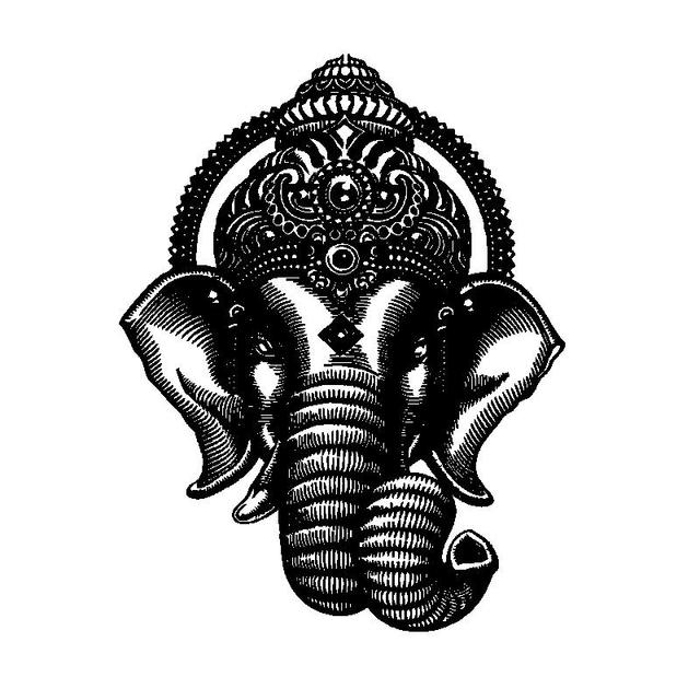 Buddha Dance Indian Hinduism Elephant Ganesh Buddhism Wall Decor Art Vinyl Decal Sticker Mural