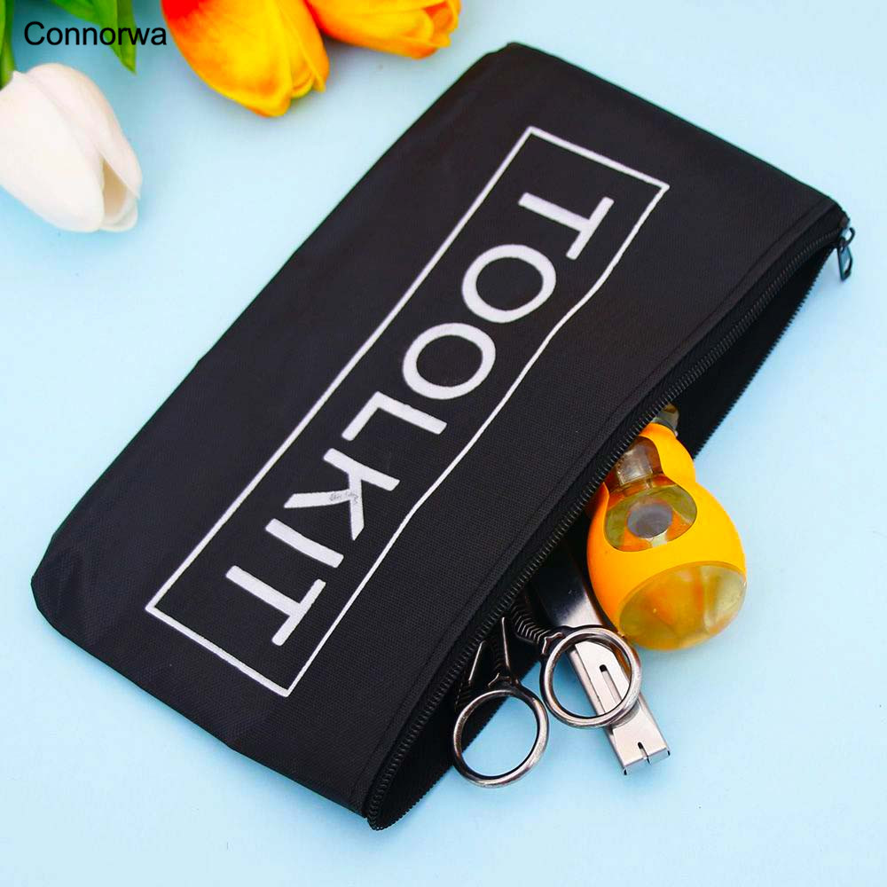 New Black Oxford Cloth Tools Set Bag Zipper Storage Instrument Case Pouch Waterproof Hot sales oxford cloth durable waterproof tools container storage waist bag with belt electrical tools bag 24x20cm 9 45x7 87