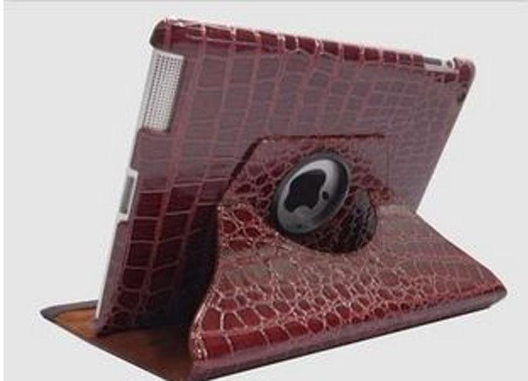 Modni 360-stopinjski vrtljiv ovitek iz krokodilskega usnja za ipad 2 - Dodatki za tablične računalnike - Fotografija 5