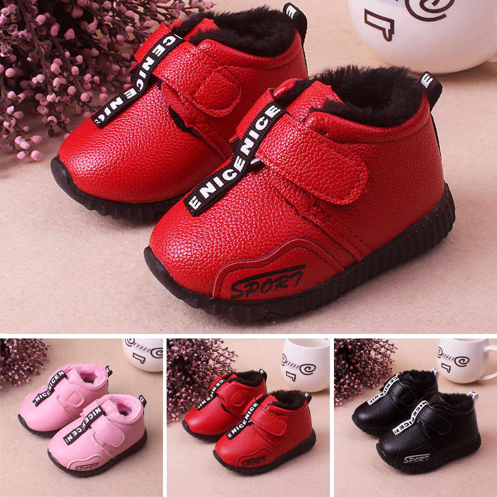 Baby Infant Toddler Girls Boys Winter Warm Sport Shoes Snow Boots Sneakers new children shoes for kids sneakers baby boys