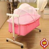 2018 детские кроватки для близнецов Дети Спальные мешки Подушка Детская кроватка кровать новорожденных Малый Concentretor кроватки подвесные корз