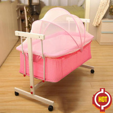 2018 Cribs For Twins Babies Kids Sleeping Bags Pillow Baby Cradle Bed Newborn Small Concentretor Crib Hanging Basket Sleeping(China)
