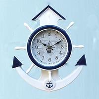Sailboat Vintage Wall Clock Modern Design Silent 3D Clock Mechanism Wall Decorations Digital Wall Clock Large Clocks 3DBG027
