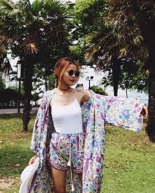 Boho Floral Tassel Shorts 2