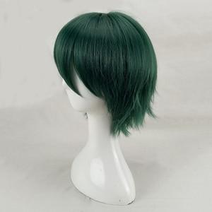 Image 4 - HAIRJOY włosy syntetyczne człowiek mięta zielona warstwowa krótka prosta męska peruka do Cosplay darmowa wysyłka 5 kolorów dostępne