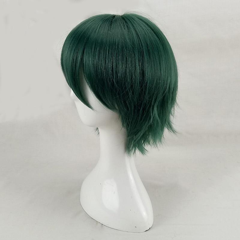 Image 4 - Hairjoy cabelo sintético homem hortelã verde em camadas curto em linha reta masculino peruca cosplay frete grátis 5 cores disponíveiswigs freewigs free shippingwig wig -