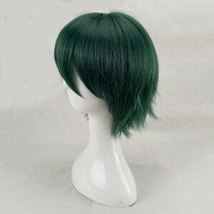 Image 4 - Hairjoy cabelo sintético homem hortelã verde em camadas curto em linha reta masculino peruca cosplay frete grátis 5 cores disponíveis