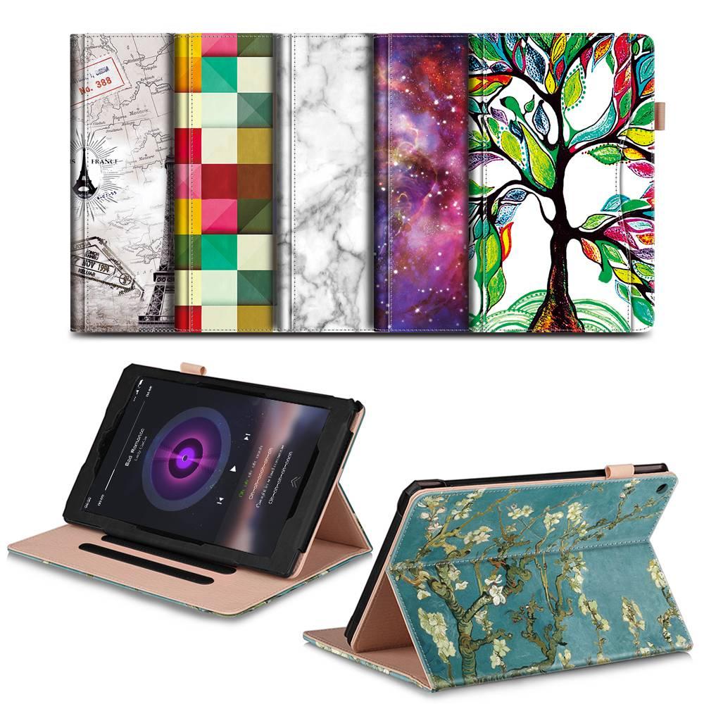Para Amazon Fire HD 10 2017 caso, fuego hd10 2015, ultra Slim pu Funda de cuero para el nuevo Amazon fuego hd10 Tablets 7th generación