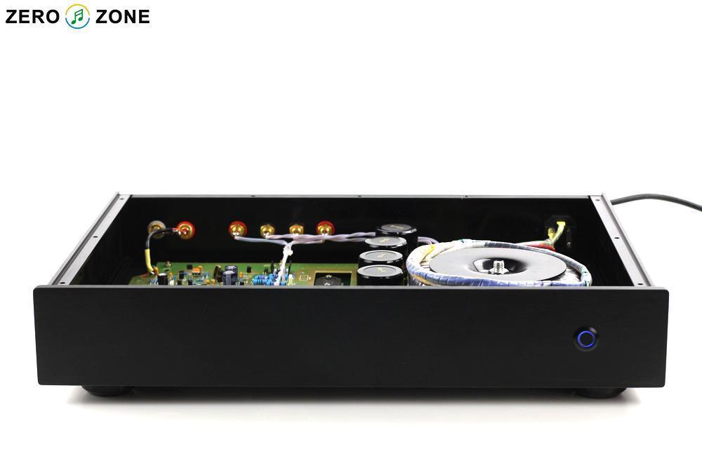 Vente chaude 300 W NAP200 HIFI 2.0 canaux amplificateur de puissance base sur UK NAIM boîte noire amplificateur de puissance 75 W + 75 W