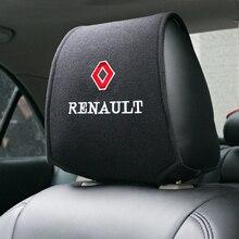 Capa de encosto de cabeça para carro, cobertura de assento de carro para renault duster megane 2 logan renault clio, 1 peça, imperdível