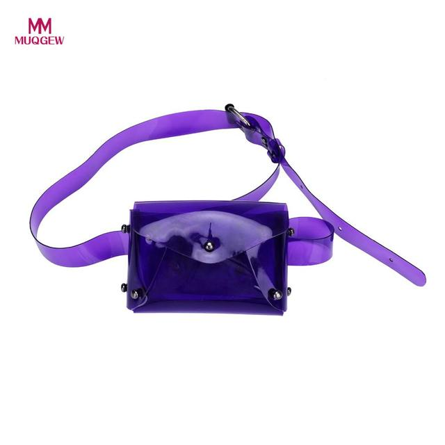 Fashion 2018 Beach Bag Women Messenger Cute Waterproof Transparent Jelly Color Mini Crossbody Bag Chest Bag