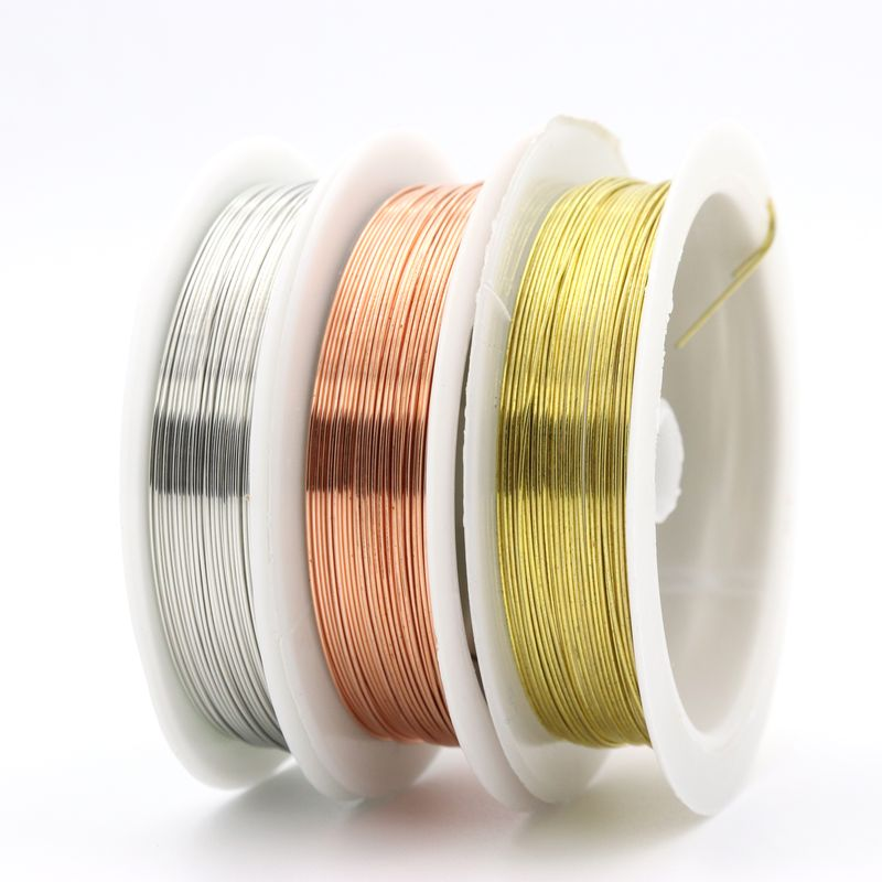 цена на 1 Roll 0.2 0.3 0.4 0.5 0.6 0.8 1mm Sturdy Alloy Copper Wire DIY Beading Wire For Jewelry Making Cord String Diy Accessories