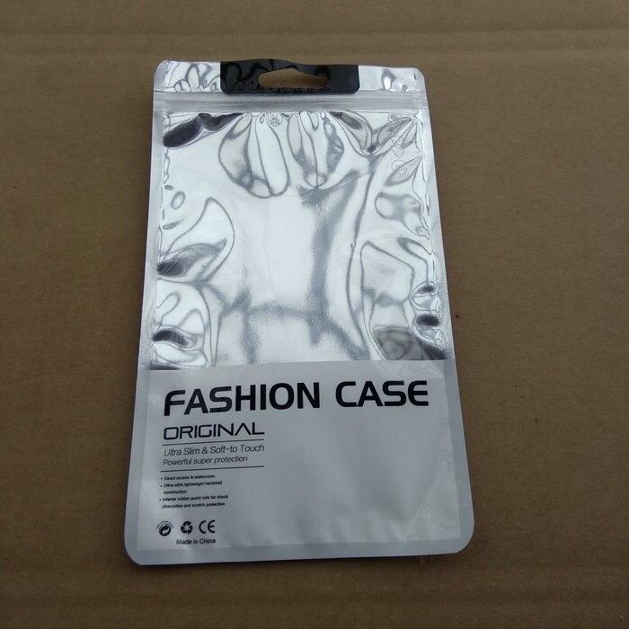 1000 stks/partij DHL 12*21.5 cm Plastic Rits Clear Zilveren Retail Verpakking voor iphone6 6 s 7 Samsung S6 C6 C7 mobiele case pakket-in Opbergtassen van Huis & Tuin op  Groep 1