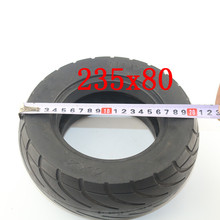 Xiaomi Mijia Scooter Skateboard Tyre 235*80 Solid Hole Tires Shock Absorber Non-Pneumatic Tyre Damping Rubber Tyres Wheels xiaomi mijia m365 electric scooter skateboard damping solid tyres with wheels hub hollow non pneumatic tires for rear wheel