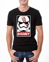 DISOBEY TROOPER T-SHIRT STAR WARS HELMET OBEY RETRO POSTER BLACK YOLO Free shipping Harajuku Tops Fashion Classic