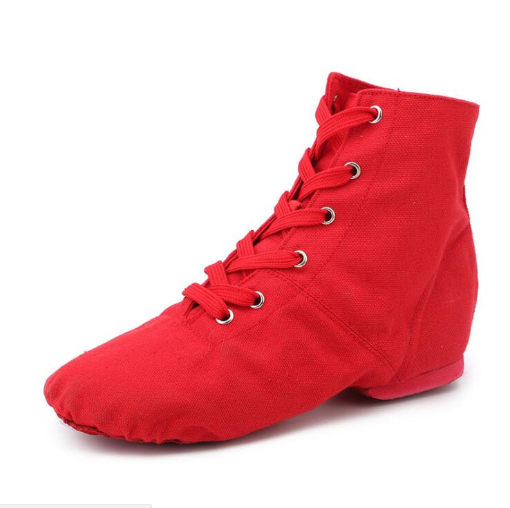 2018 New High Quality Canvas Women Jazz Dancing Shoes Lace-up Dancing Shoes Soft and Light for Women Factory Dropship