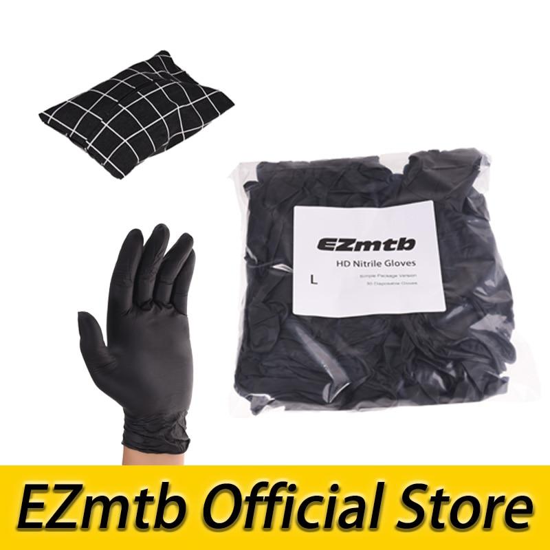 Free Shipping EZmtb Bicycle Maintenance HD Nitrile Gloves Powder Free Latex Free 30 In 1 Bag