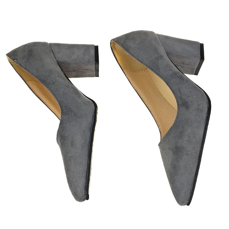 Black Aphixta Gris De Chaussures Pointu Mode Plus Bout Noir Cuir Haute gray Pompes Flock Grand Soirée Talons Carré Femmes Talon En Taille RBqS8fnR