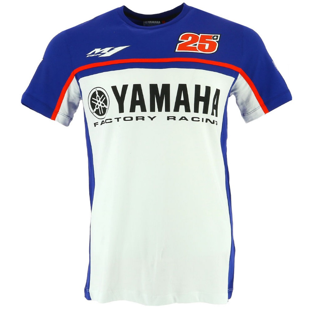 NUOVO 2017 Moto GP 25 PER Yamaha Factory Racing T-Shirt