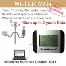 Хранилище данных темп. Влажность дождь давления скорость ветра направление беспроводная метеостанция погода центр 1041