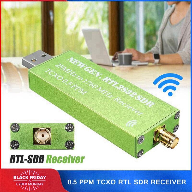 0.5 PPM TCXO RTL-SDR USB AM FM Software Defined Radio Récepteur Scanner RTL DTS RTL2832U R820T2 Android TV Tuner Bâton SMA F Mâle