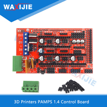3D Printer RAMPS 1.4 Control Board Development Board Motherboard Control Module DIY 3D Printer Driver Assembly For Reprap Mendel 95% new used for haier refrigerator module board 0064000385 inverter board driver board frequency control panel