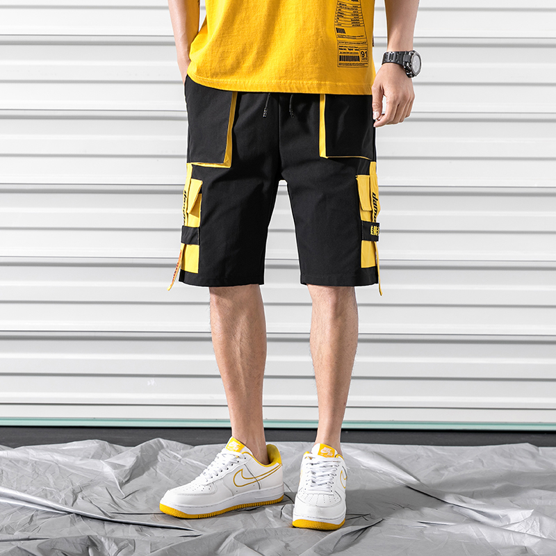 2019 Autumn Men Harajuku Cotton Multi-Pocket Safari Style Fashion Men's Jogger Cargo Pants Streetwear Trousers ABZ394
