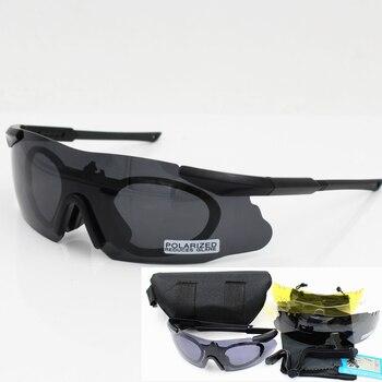 Los hombres gafas de sol militar polarizado de 3/5 gafas de seguridad con lentes militar táctico gafas de caza al aire libre LUCHA CONTRA juego