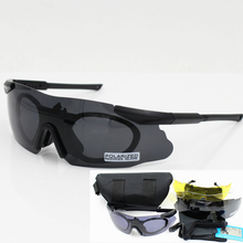 купить Men Cycling Sunglasses Military Polarized 3/5 Lens Safety Glasses Tactical Army Goggles Outdoor Hunting Combat Wargame дешево
