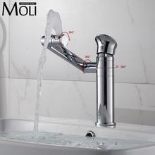 Новое поступление хромированная отделка бассейна кран тело и носик 360 градусов вращающийся смесители с одним рычагом холодной и горячей воды нажмите