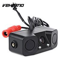 Car Vehicle Video Parking Rear View Camera 2 Sensors Reverse Radar Assistance
