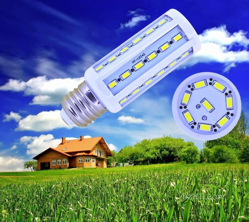 D50 5 peças/lote Milho Bulbo B22 E14 E27 44 12 w 5730 5630 SMD LED Luz Quarto Home Da Lâmpada LED milho Bulbo AC 220 v AC 110 v