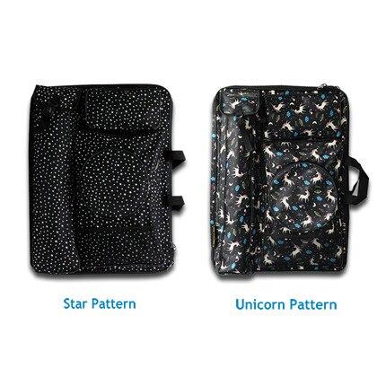 แฟชั่นสีดำขนาดใหญ่ Art กระเป๋าเดินทาง Sketch กระเป๋าอุปกรณ์ศิลปะจิตรกรรมสำหรับวาด-ใน ชุดศิลปะ จาก อุปกรณ์ออฟฟิศและการเรียน บน   3
