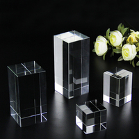 Custom Crystal Home Decor Ornaments 3D Laser Engrave DIY Block Engraving Paperweight Gifts