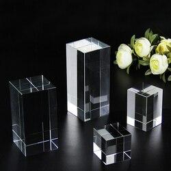 Niestandardowe kryształowe dekoracje do domu ozdoby 3D grawerowanie laserowe DIY blok grawerowanie Paperweight prezenty