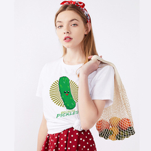 2019 Summer Funny Because Pickles Cotton Tshirt Harajuku Aesthetics Print Short Sleeve Tops & Tees Sexy Casual Couple T Shirt