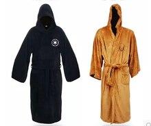 Peignoir en molleton Terry Jedi pour adultes, Costume de Cosplay dhalloween pour hommes, vêtements de nuit, collection offre spéciale Star Wars Darth vador