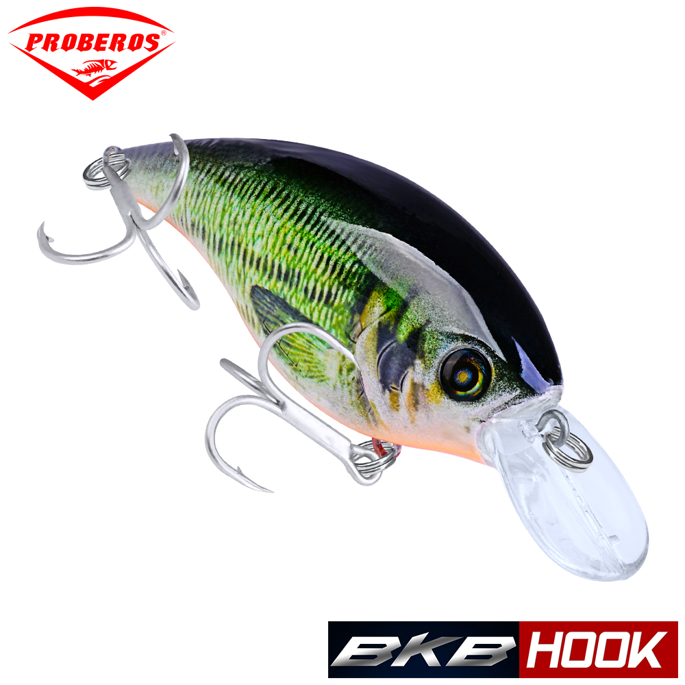 1PC PRO BEROS Crankbait Fishing lure Exported to Japan 9cm 16.5g Fat Mini Bass Bait Hard Artificial Swimbait Fishing Tackle