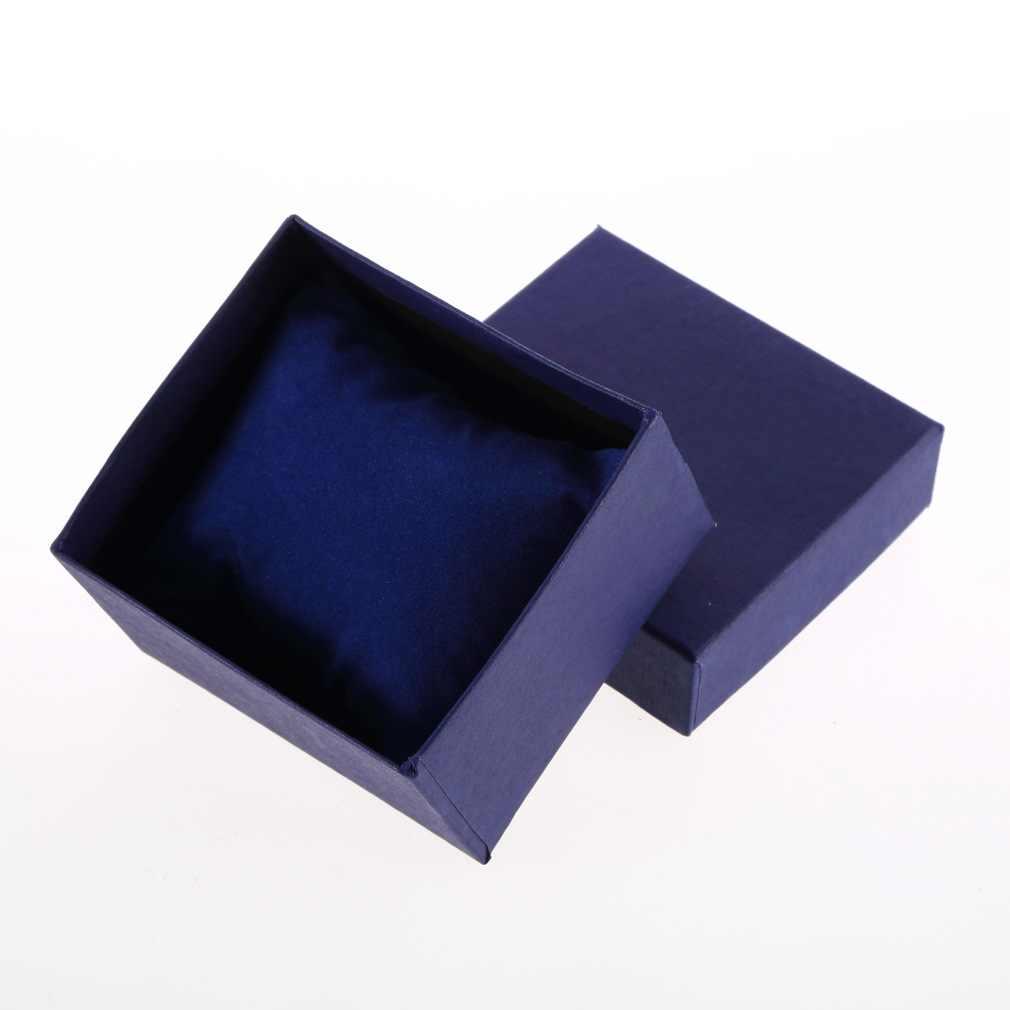 Шкатулка для драгоценностей Чехол Дисплей Упаковка держатель с пеной коврик подарок браслет черный синий цвет для бизнесмена женщин подарочная коробка