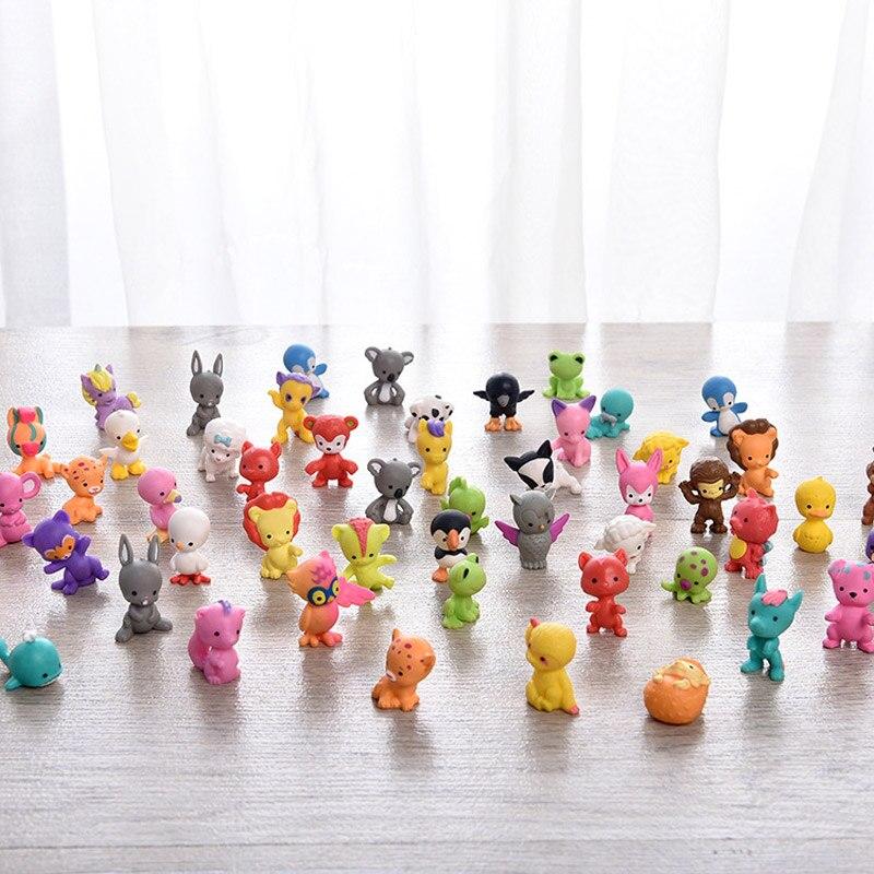 ?00pcs/lot Mini cute wild home sea Animal bird fish lion owl chicken frog bear penguin octopus Figures model Collection Toys | american doll
