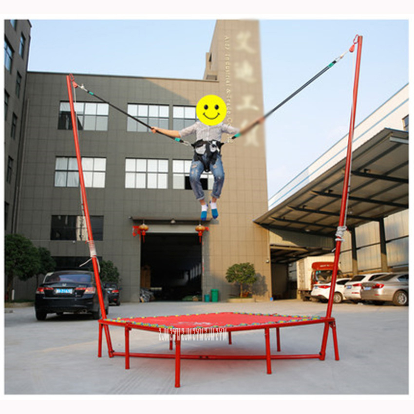 Trampolines Folding waist drum spring bounce bed bungee jumping bed home indoors adult children weight loss fitness Load 100kg