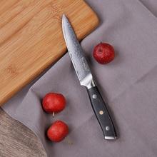 SUNNECKO 5 tommer værktøjskniv Japansk VG10 Damaskus Stålblad G10 Håndtag Kokens Frugtskæringsskæring Køkkenknive