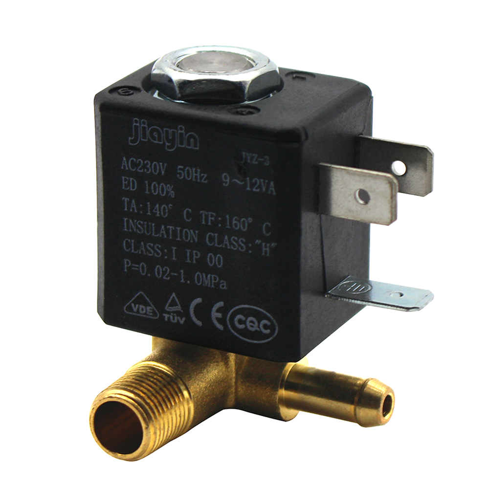 JYZ-3 Normally Closed NC AC 230V G18 Brass Iron Steam Water 2 Position
