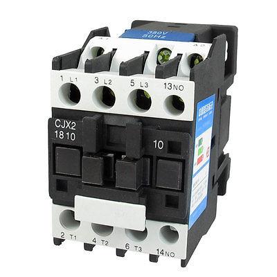 CJX2-1810 660V 32A 3 Poles NO 35mm DIN Rail AC Contactor 380V Coil