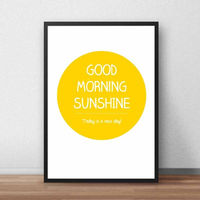 Nordic Typography Print Positive Life Quotes Nice Day Good Morning ...